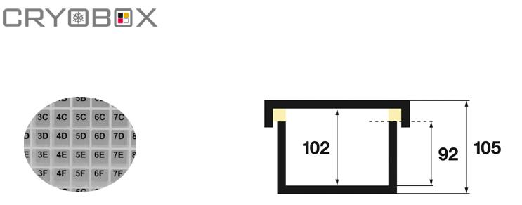 Cryoboxes 130x130x105 mm high