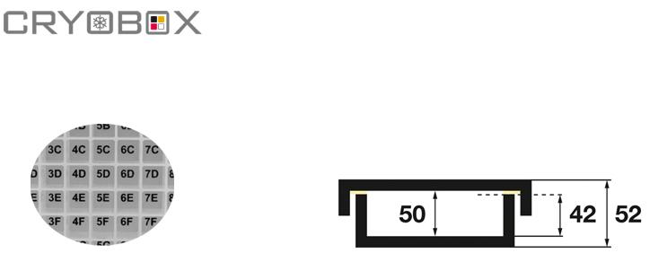 Cryoboxes 130x130x52 mm high