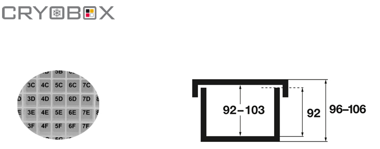 Cryoboxes 130x130x96-106 mm high