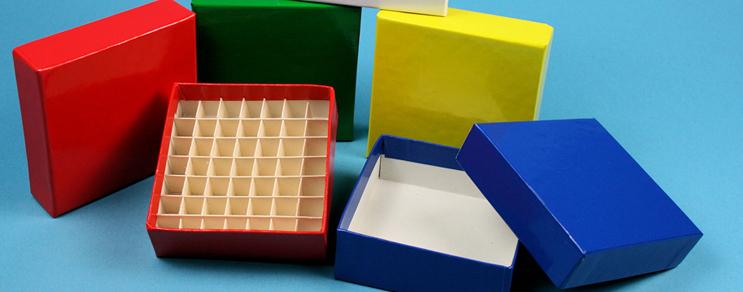 Cardboard cryovial boxes