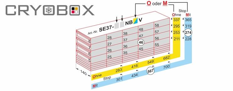 Cryo Drawers Racks boxes until 37 mm high