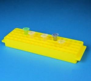 Thorbi Kryo tube rack without lid yellow
