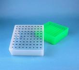 EPPi Cryo Box 75 (PP) / 9x9 grid, neon-green, height 75 mm fix