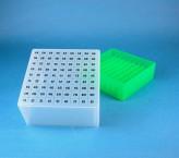EPPi Cryo Box 95 (PP) / 9x9 grid, neon-green, height 95 mm fix