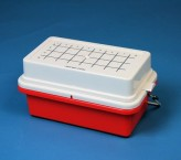Isotherm Mini Cooler 0°C for 32 tubes from 0.5 ml to 2.0 ml, lid with gel red